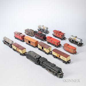 Fifteen Lionel Train Cars