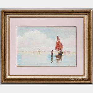 E. Winchester Kingsbury (American, 20th Century)      Harbor Scene
