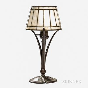 Tiffany Studios Bronze Boudoir Lamp