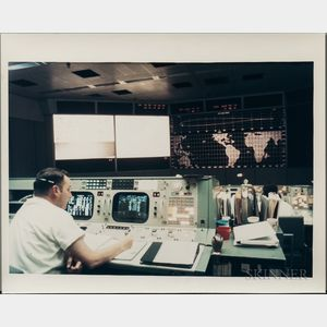 Apollo 8, Liftoff, Mission Control Center, December 1968, Four Images.