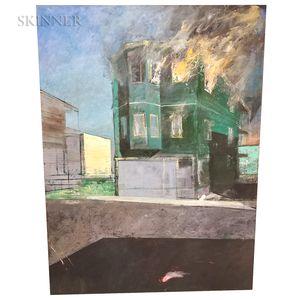 Adam Cvijanovic (American, b. 1960)      Burning Building