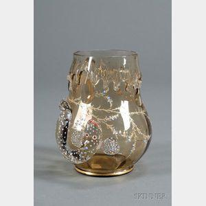 Art Nouveau Salamander Vase, Possibly Moser
