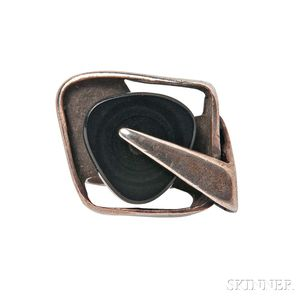Sterling Silver and Onyx Ring, Margaret De Patta