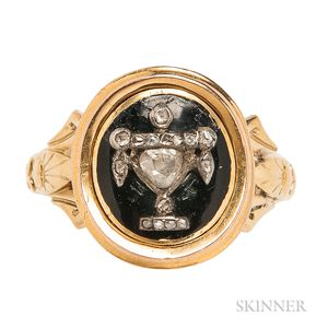 Gold and Diamond Urn Ring