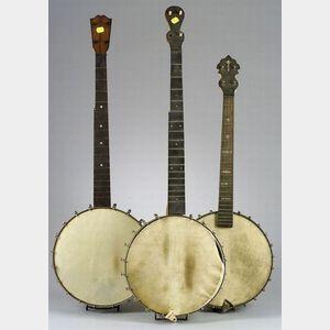 Three American Banjos, c. 1900.