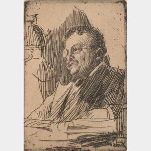Anders Zorn (Swedish, 1860-1920)      Theodore Roosevelt
