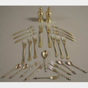Group of Miscellaneous Mostly Sterling Silver Tableware Items