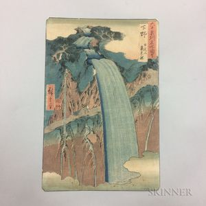 Utagawa Hiroshige (1797-1858), Mount Nikko, Urami Waterfall, Shimotsuke Province