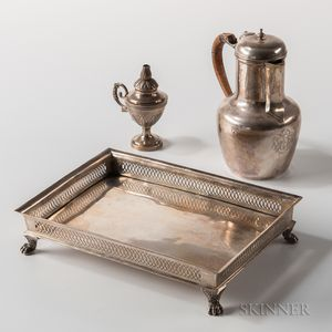 Three Pieces of Continental Silver Tableware