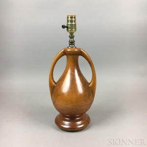 Art Pottery Double-handled Lamp