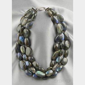 Three-strand Labradorite Necklace