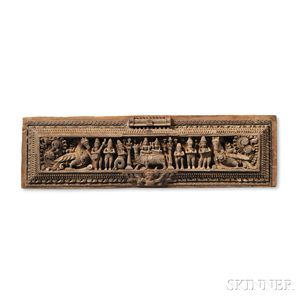 Two Wooden Lintel Friezes