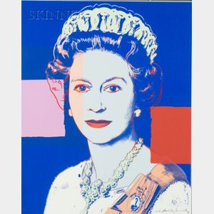 Sold for: $41,125 - Andy Warhol (American, 1928-1987)    Queen Elizabeth II  of the United Kingdom