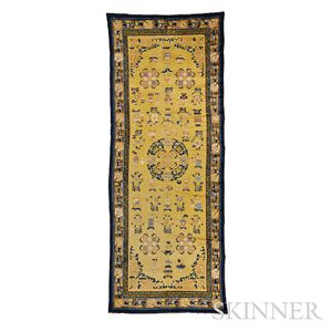 "Sold for: $35,670 - Chinese ""Hundred Antiques"" Rug"