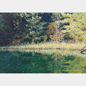 Wally Ames (American, b. 1942)      Pond's Edge