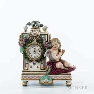 Meissen Porcelain Figural Clock Case