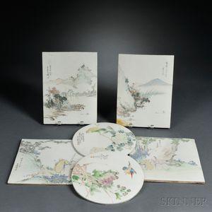 Six Painted Porcelain Plaques