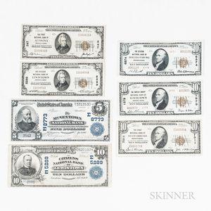 Seven Pennsylvania National Bank Notes