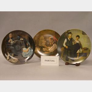 Approximately Thirty-eight Knowels/Rockwell, Fenton-Bicenti, and Castari Collector Plates.