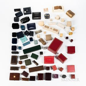 Approximately Sixty-five Vintage Jewelry Boxes