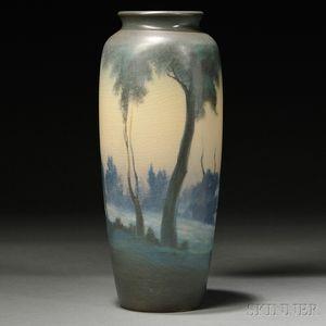 Rookwood Pottery Scenic Vellum Vase