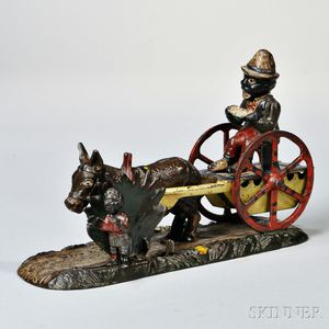 """Painted Cast Iron """"Bad Accident"""" Mechanical Bank"""