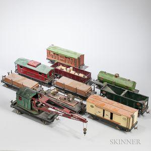 Ten Lionel 200 Series Train Cars