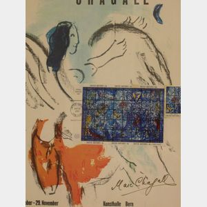 Marc Chagall Signed Program Commemorating the United Nations.