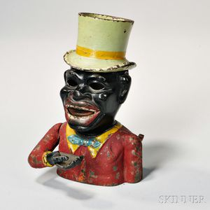 """Painted Cast Iron """"Jolly N"""" Mechanical Bank"""