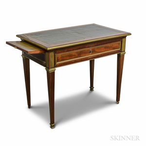 Louis XVI-style Ormolu-mounted Fruitwood One-drawer Table