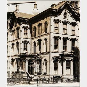 Walker Evans (American, 1903-1975)       Brownstone Houses, 222 Columbia Heights, Brooklyn [variant]