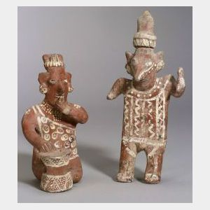Two Pre-Columbian Painted Pottery Figures