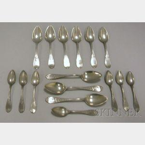 Group of L. Boardman Pewter Spoons