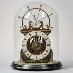 Ship's Wheel Balance Skeleton Clock