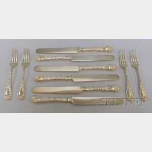 Approximately Ten Pieces of  Sterling Flatware