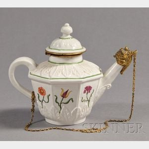 Sold for: $94,800 - Vezzi Porcelain Bronze Mounted Teapot and Cover