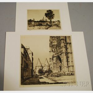 Samuel V. Chamberlain (American, 1895-1975)      Lot of Two French Picardie Region Views: Beauvais