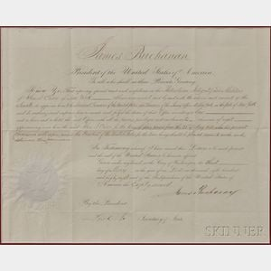 Buchanan, James (1791-1868) Document Signed, 3 May 1858.
