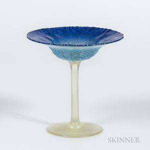 Tiffany Studios Blue Feather Compote