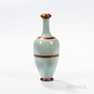 Crackled Celadon-glazed Vase