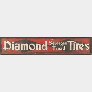 """Diamond Squeegee Tread Tires"" Auto Sign"