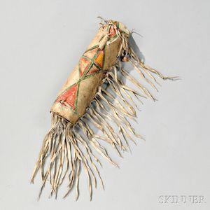 Blackfeet Parfleche Medicine Cylinder
