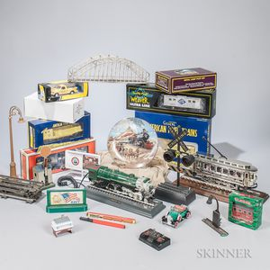 Large Group of Marklin, Lionel, and American Flyer-related Ephemera, Books, and Accessories.