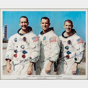 Apollo 9, Prime Crew, Autopen Signed Lithograph.