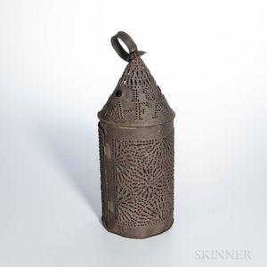 """Lafayette 1825"" Pierced Tin Lantern"