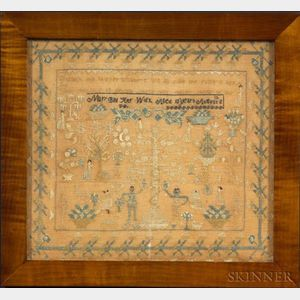 Needlework Adam & Eve Sampler