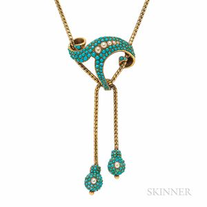 Victorian Gold and Turquoise Necklace