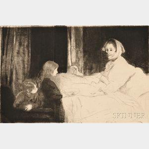 Albert Besnard (French, 1849-1934)      La mère malade