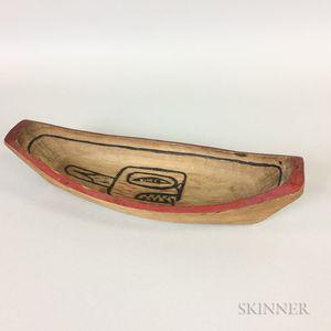 Northwest Coast Canoe-shaped Bowl