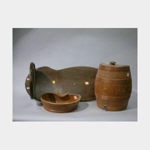 Brown Glazed Stoneware Lavabo.